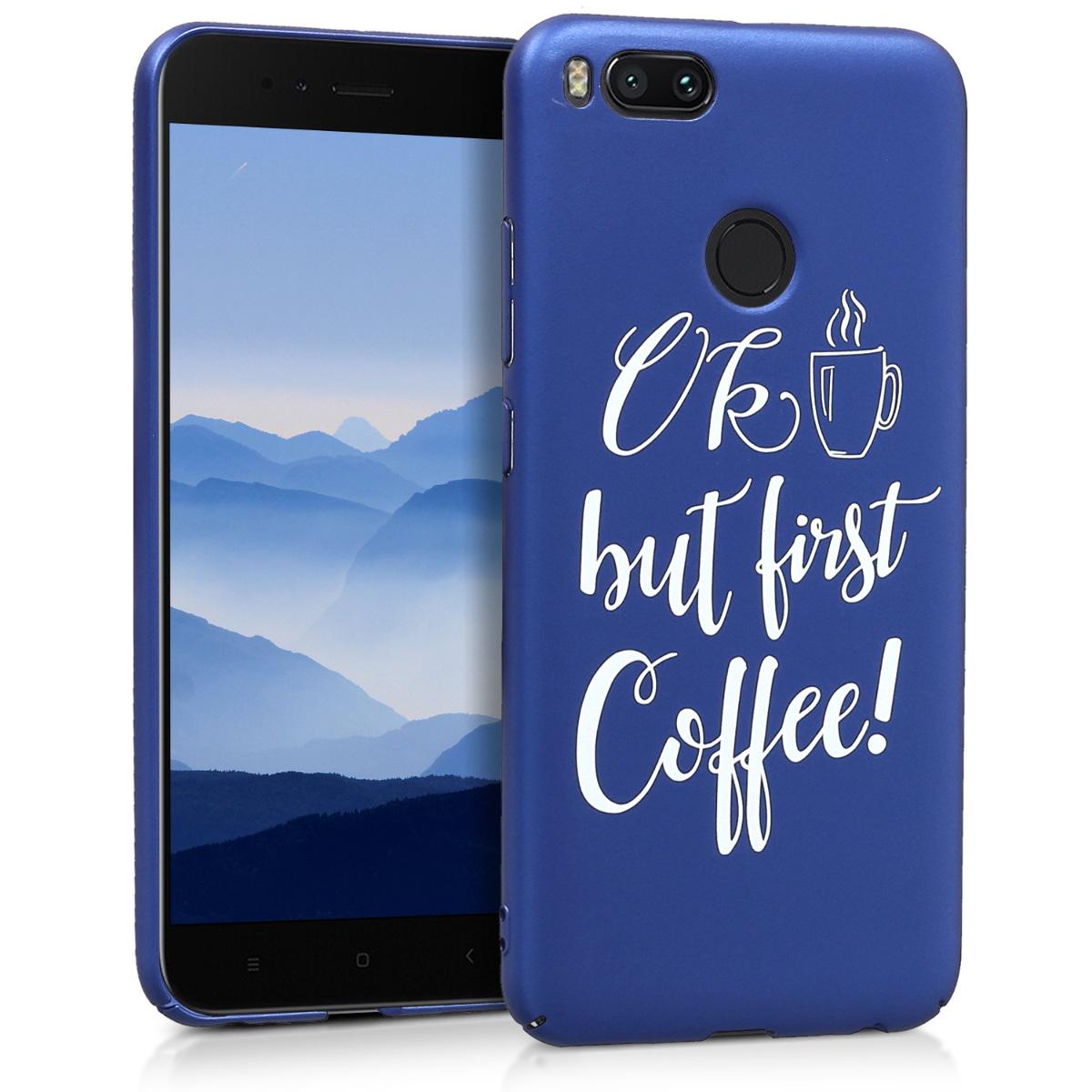 KW Σκληρή Θήκη Xiaomi Mi 5X / Mi A1 - White / Metallic Blue (44084.01)