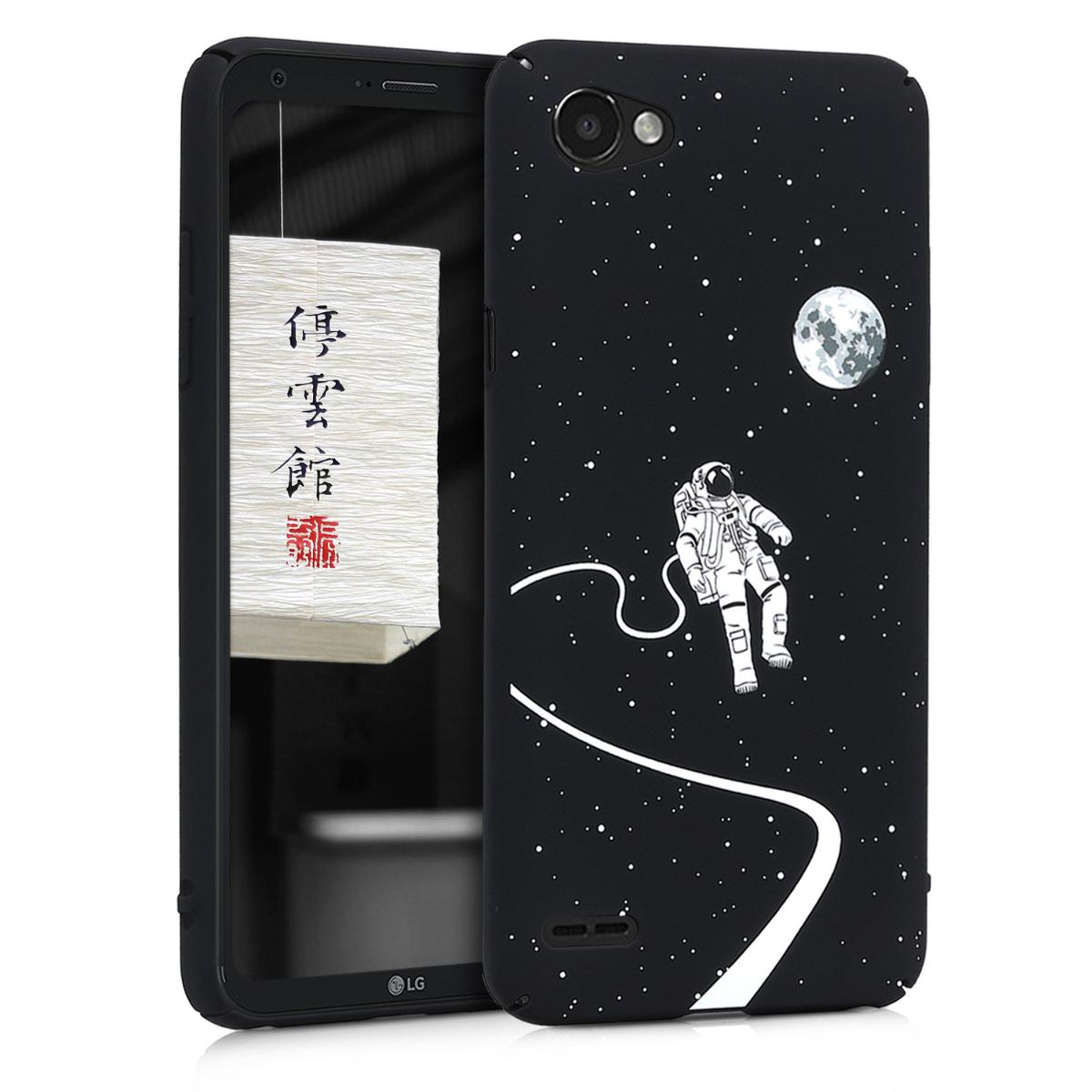 KW Slim Anti-Slip Cover - Σκληρή Θήκη Καουτσούκ LG Q6 - Μαύρο - Αστροναύτης (44085.02)