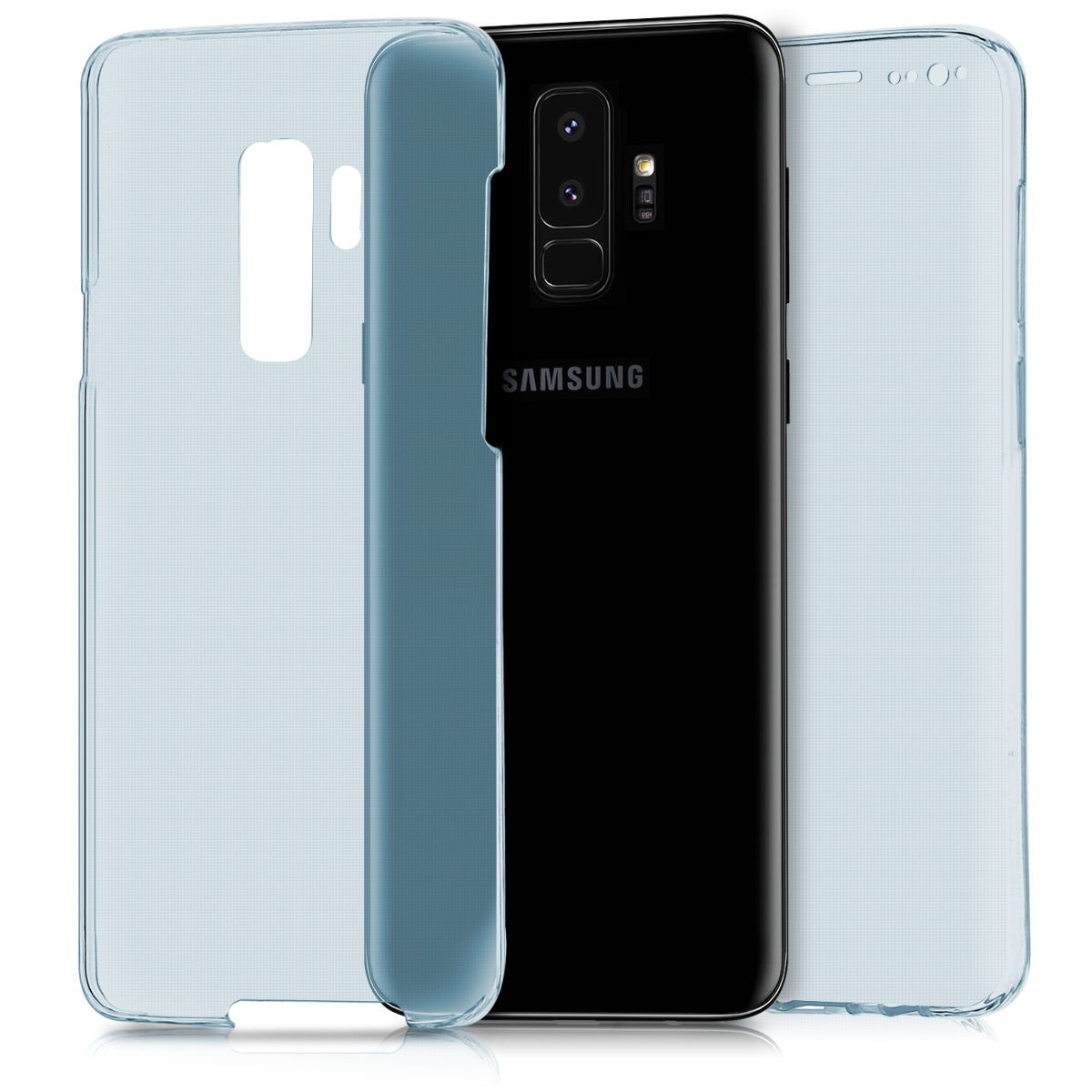 KW Θήκη Σιλικόνης Full Body Samsung Galaxy S9 Plus - Μπλε (44094.04)