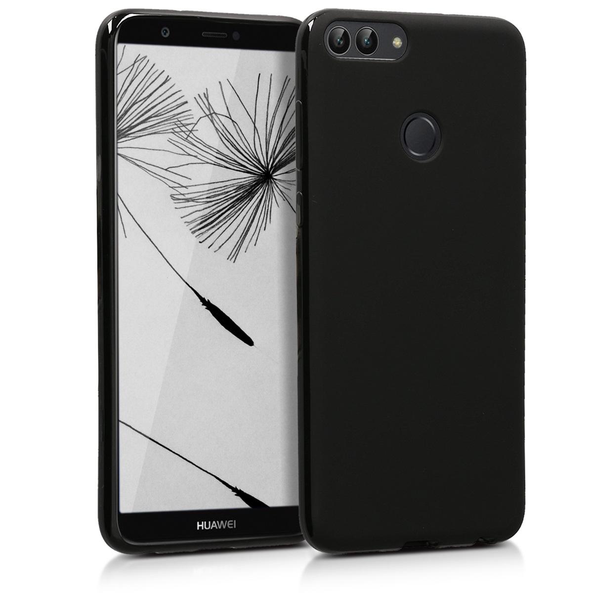 KW Θήκη Σιλικόνης Huawei P Smart 2018 - Black Matte (44124.47)