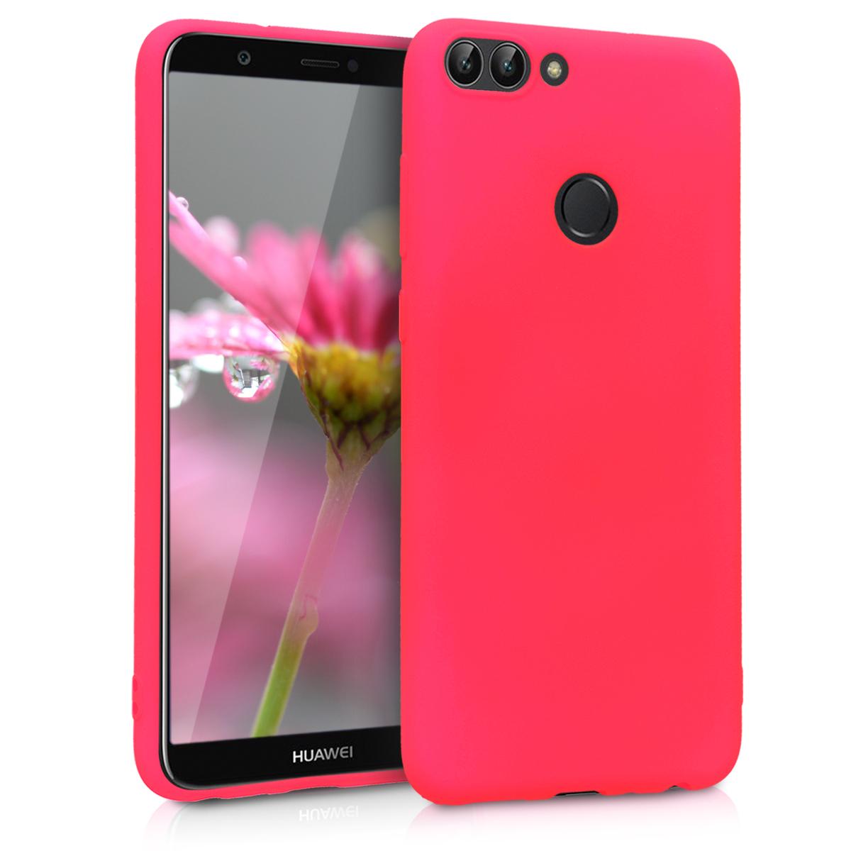 KW Θήκη Σιλικόνης Huawei P Smart 2018 - Neon Pink (44124.77)