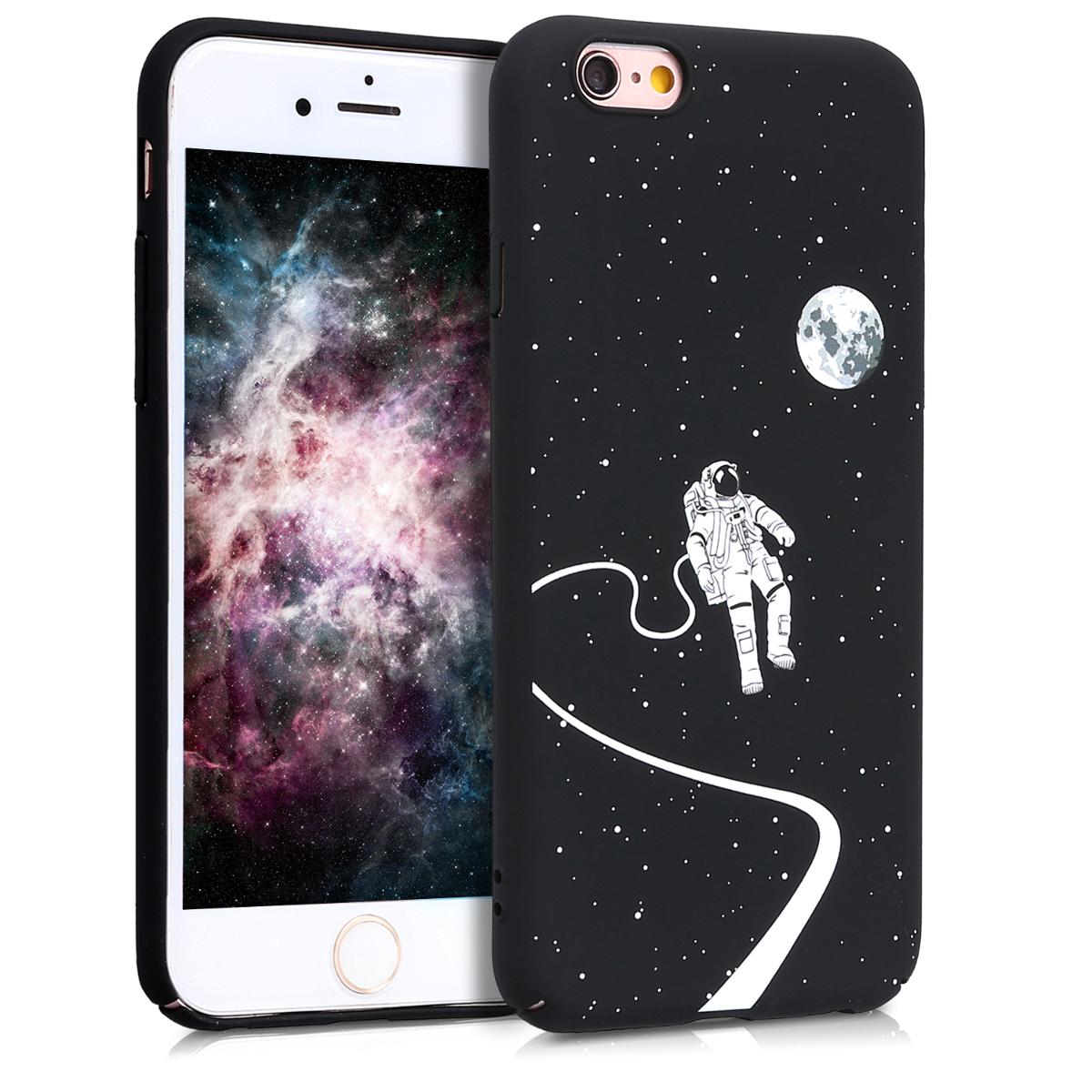 KW Slim Anti-Slip Cover - Σκληρή Θήκη Καουτσούκ iPhone 6 / 6S - Μαύρο - Αστροναύτης (44140.03)