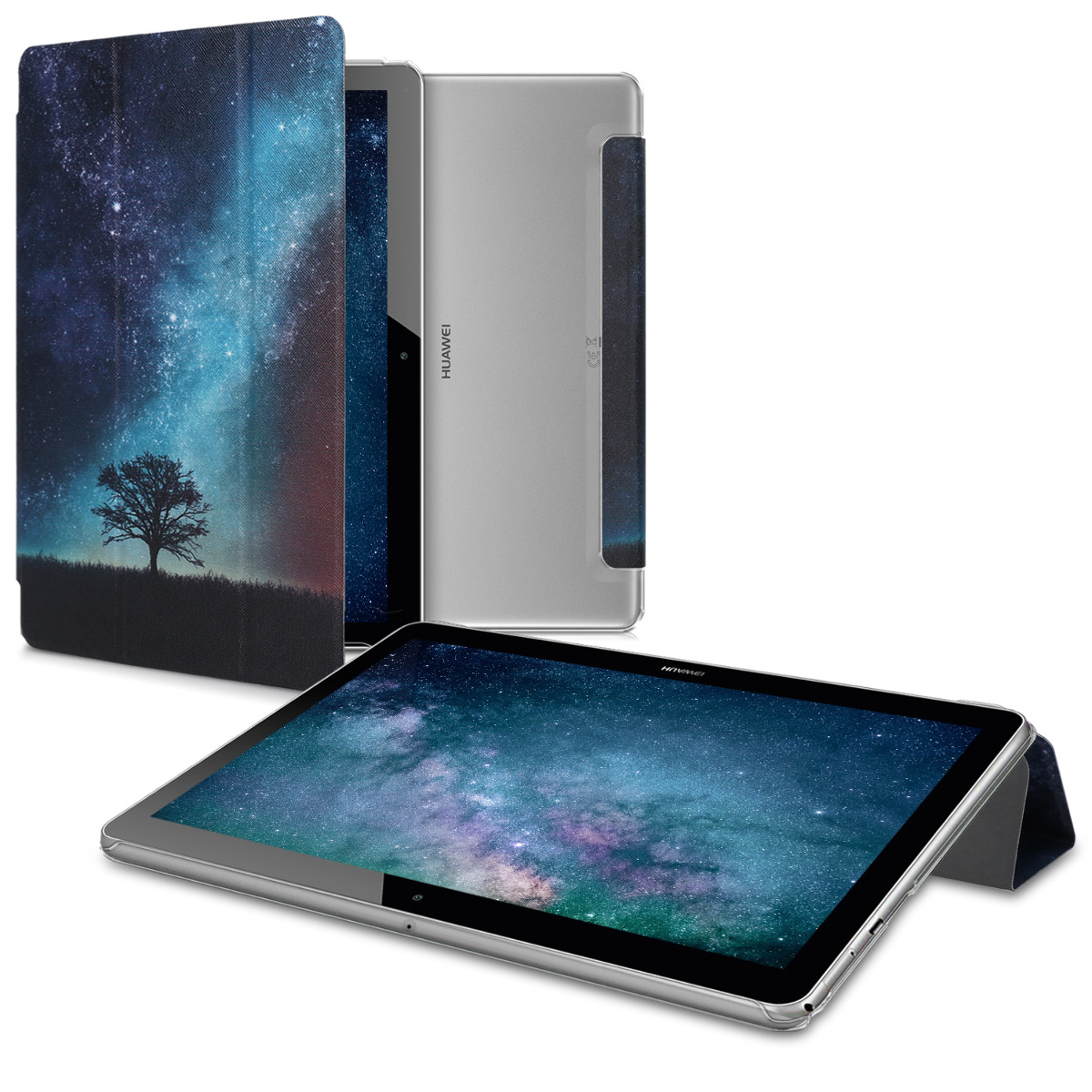 KW Θήκη Huawei MediaPad T3 10'' - Blue Galaxy Tree (44142.03)