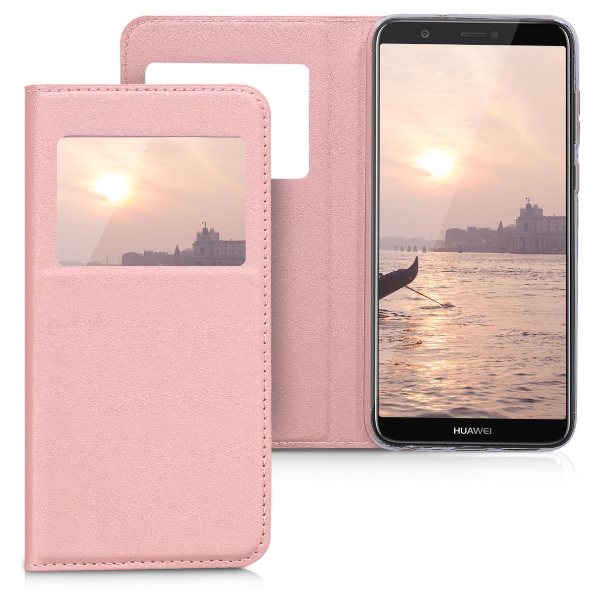 KW Θήκη-Flip Huawei P Smart - Ροζ (44207.81)