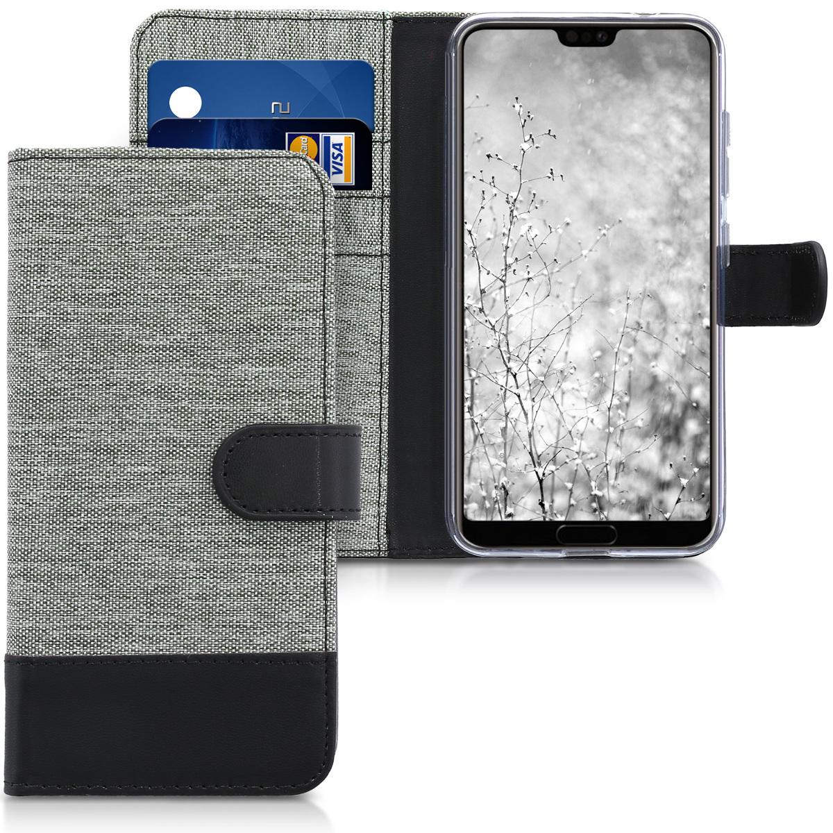 KW Θήκη-Πορτοφόλι Huawei P20 Pro - Γκρι/Μαύρο (44224.01)