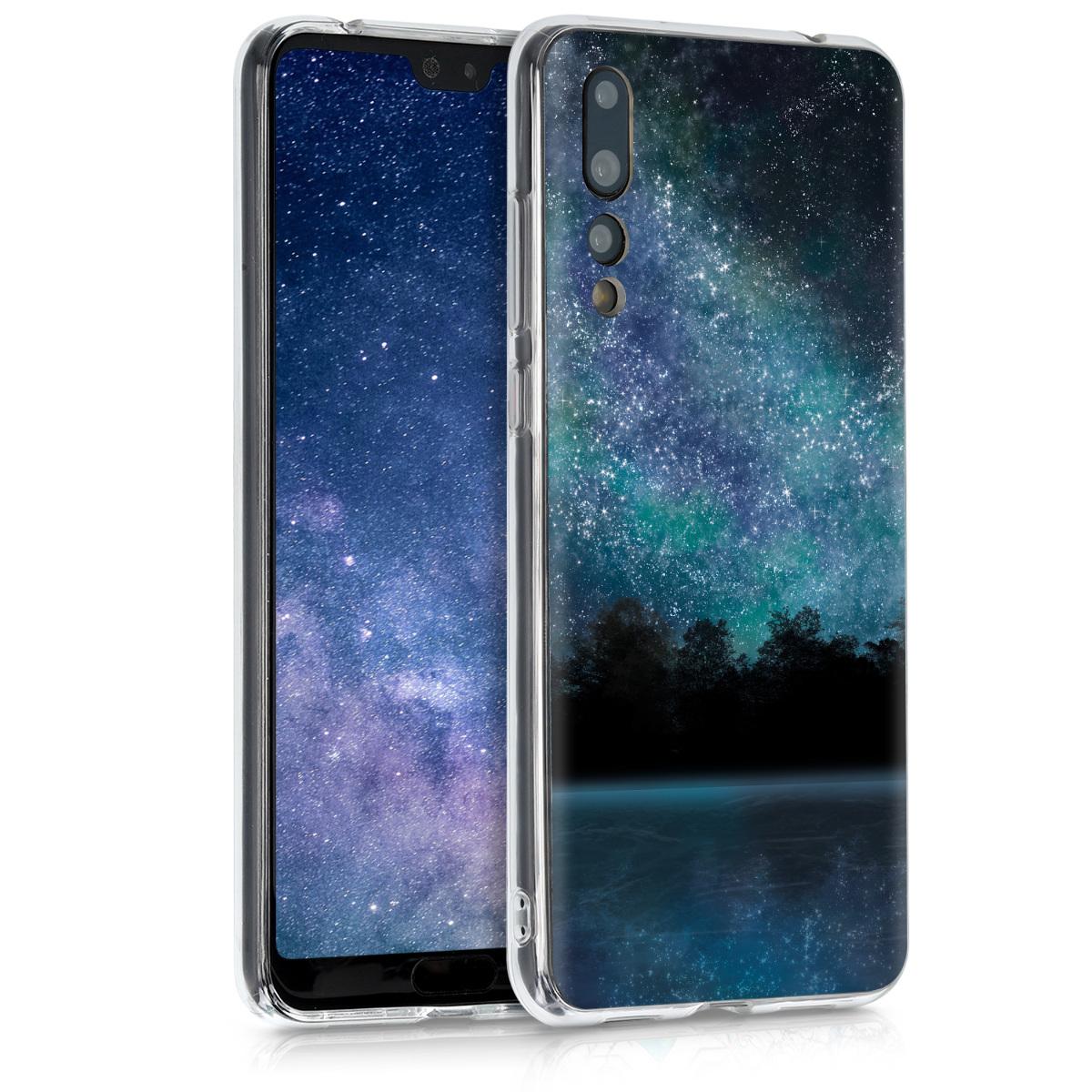 KW Θήκη Σιλικόνης Huawei P20 Pro - Blue / Black (44226.18)
