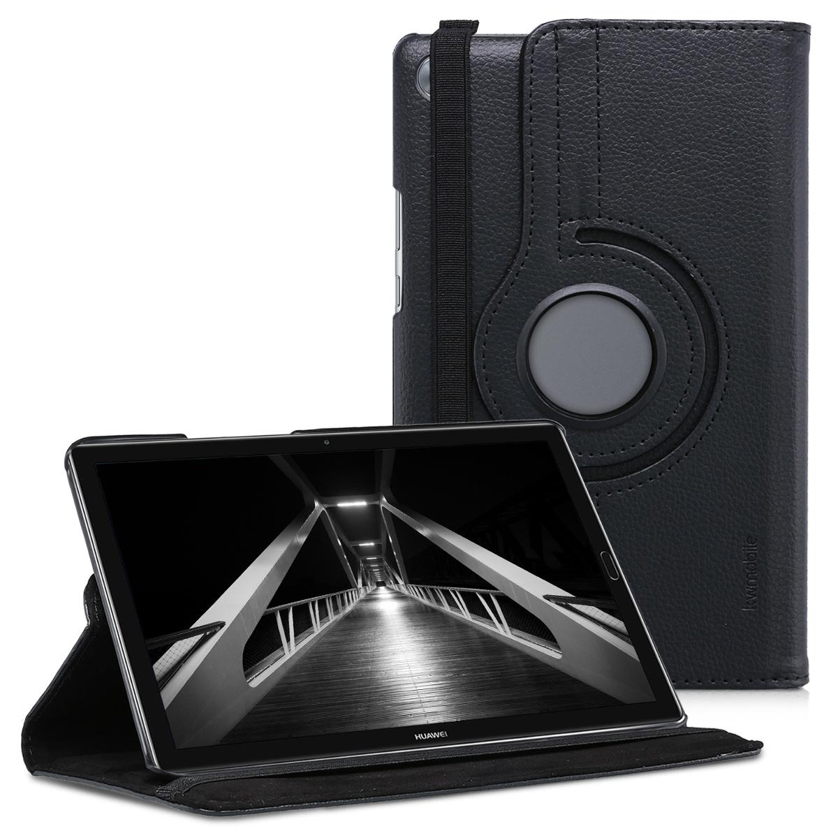 KW Θήκη 360° Huawei MediaPad M5 8' - Συνθετικό Δέρμα - Black (44242.01)