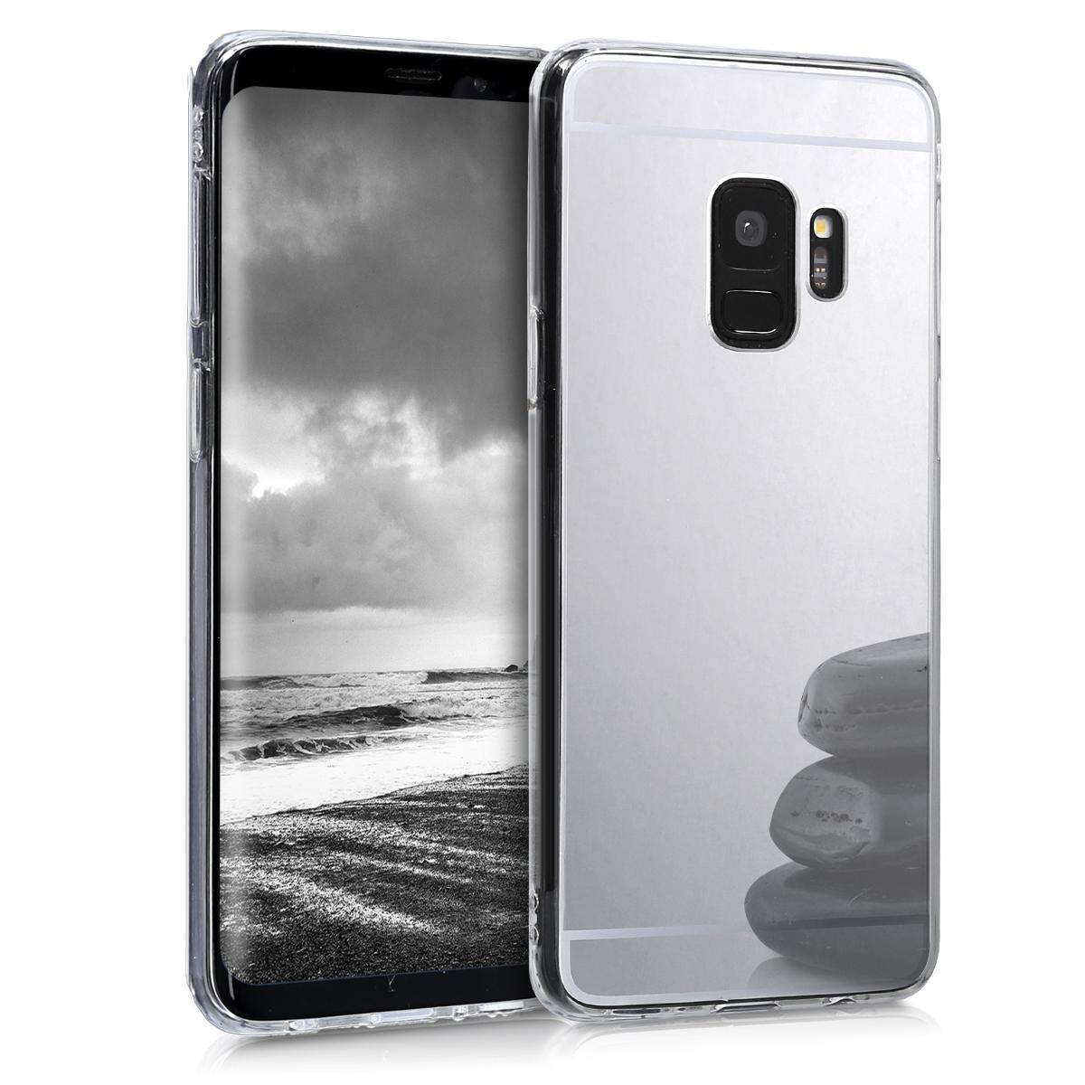 KW Θήκη Σιλικόνης (TPU) με Καθρέφτη Samsung Galaxy S9 - Silver Reflective (44280.42)