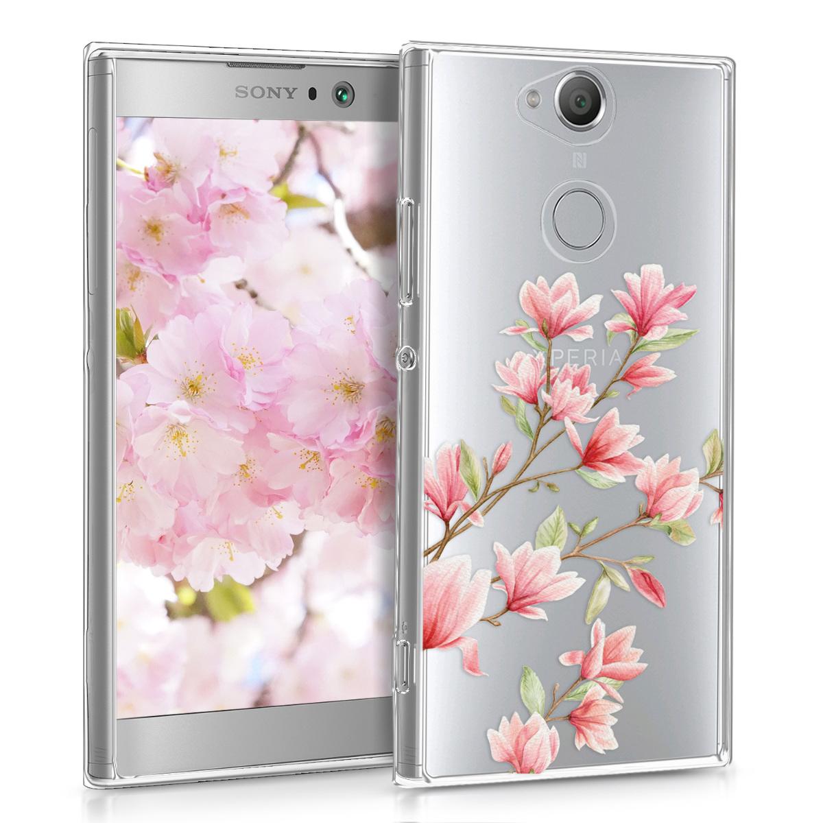 KW Θήκη Σιλικόνης Sony Xperia XA2 - Διάφανη- Σχέδιο λουλουδιών (44297.07)