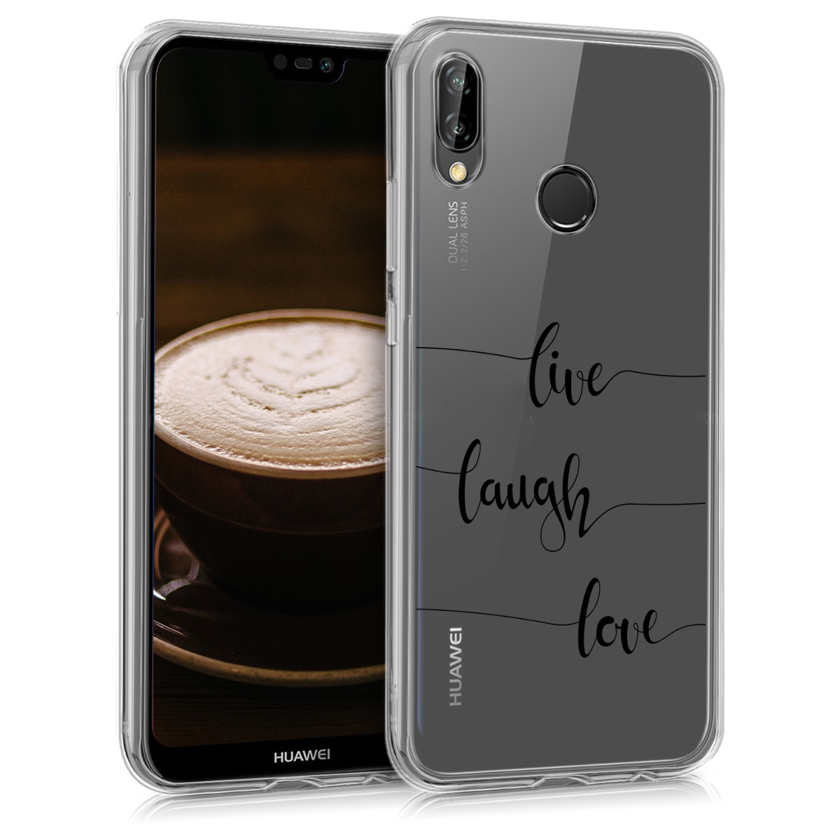 KW Θήκη Σιλικόνης Huawei P20 Lite - Live Laugh Love (44373.09)