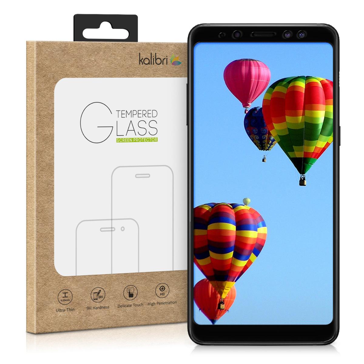 Kalibri Tempered Glass - Fullface Αντιχαρακτικό Γυαλί Οθόνης Samsung Galaxy A8 2018 - Black (44457.01)