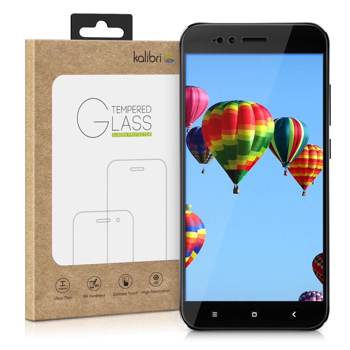 Kalibri Tempered Glass - Fullface Αντιχαρακτικό Γυαλί Οθόνης Xiaomi Mi 5X / Mi A1 - Black (44466.01)