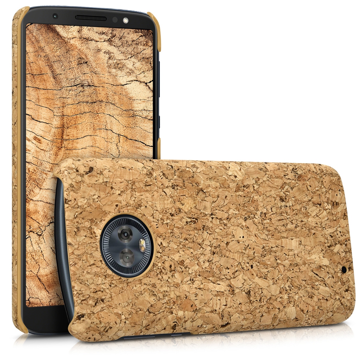 KW Σκληρή Θήκη Motorola Moto G6 - Light Brown Cork (44604.24)