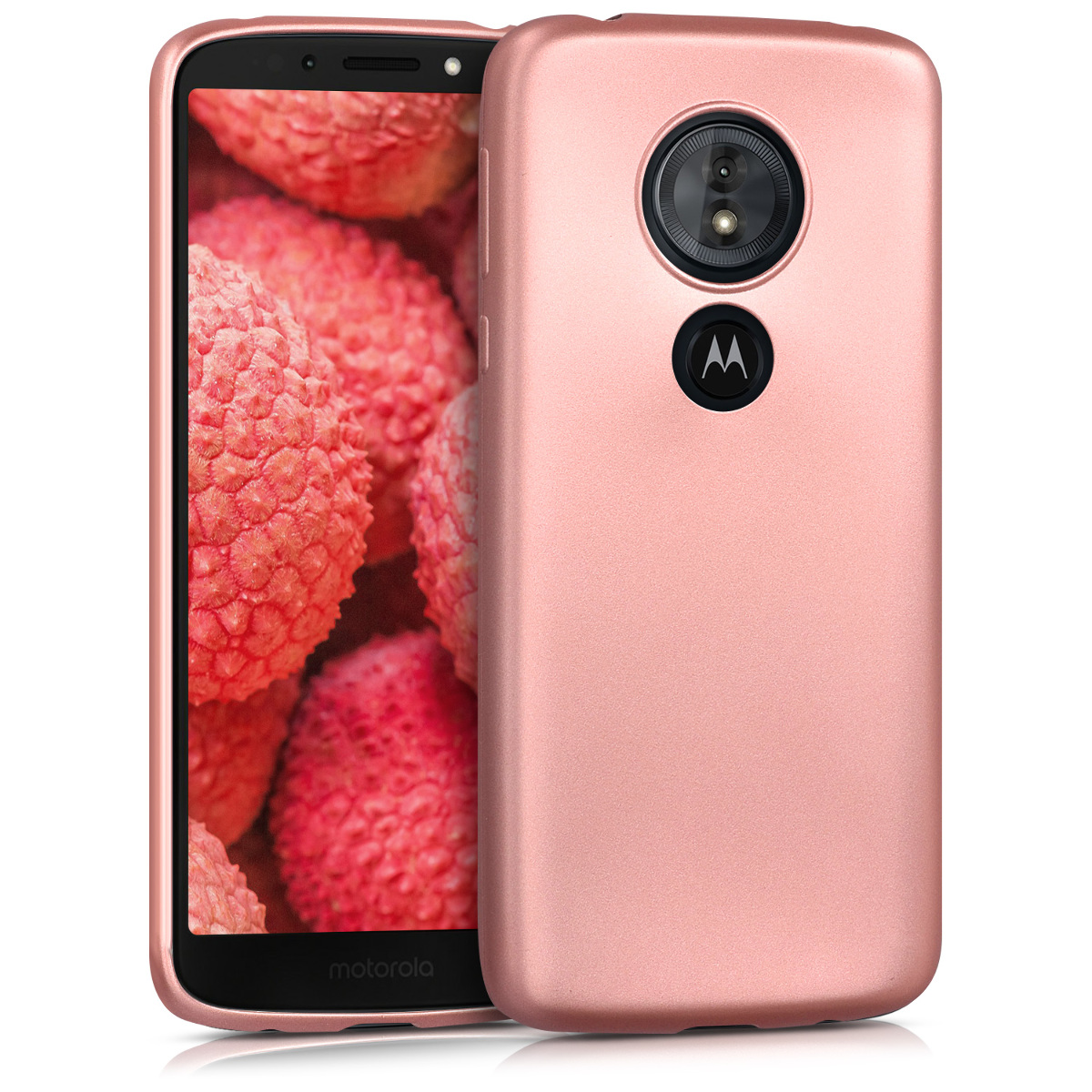 KW Θήκη Σιλικόνης Motorola Moto G6 Play - Metallic Rose Gold (44622.31)