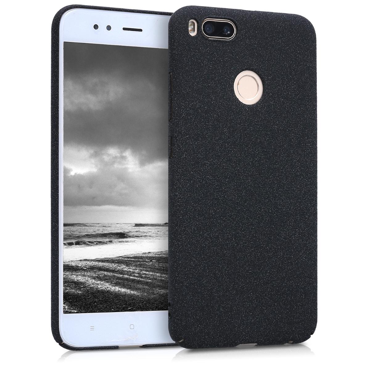 KW Slim Anti-Slip Cover - Σκληρή Θήκη Καουτσούκ Xiaomi Mi 5X / Mi A1 - Μαύρο μεταλλικό (44681.68)