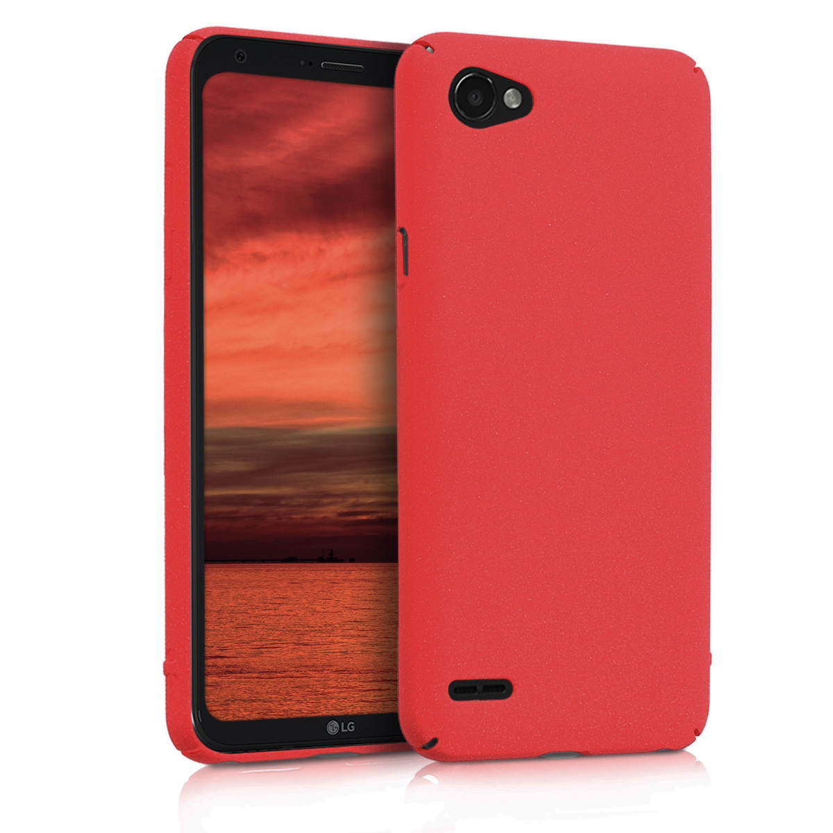 KW Slim Anti-Slip Cover - Σκληρή Θήκη Καουτσούκ LG Q6 - Κόκκινο μεταλλικό (44683.36)