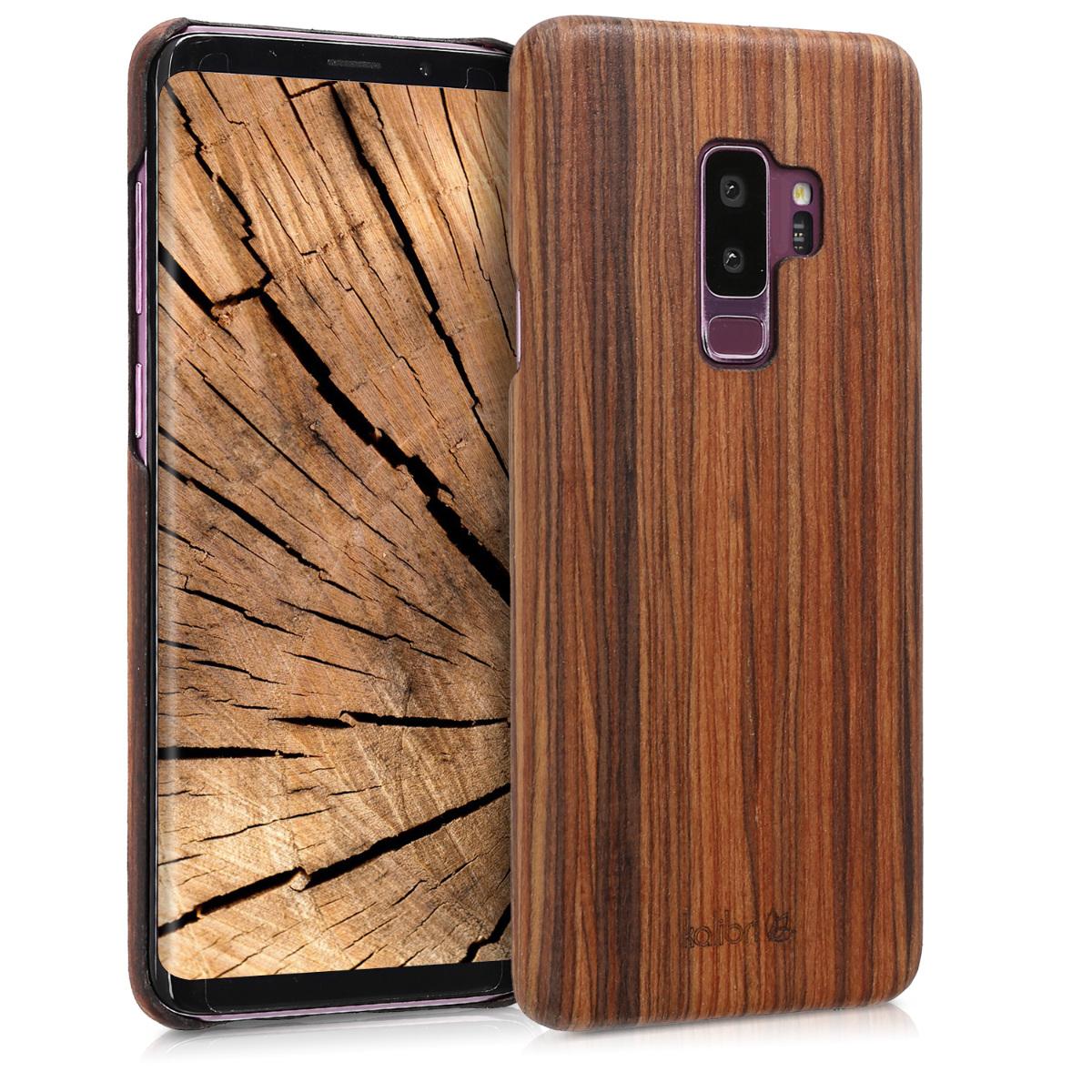 Kalibri Ξύλινη Θήκη Samsung Galaxy S9 Plus - Dark brown (44689.05)