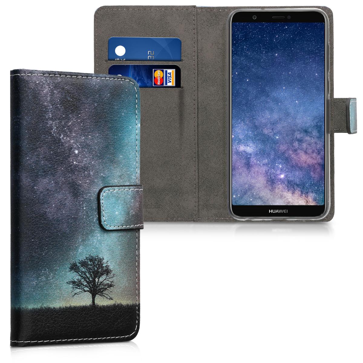 KW Θήκη - Πορτοφόλι Huawei P Smart 2018 - Galaxy Tree (44693.05)