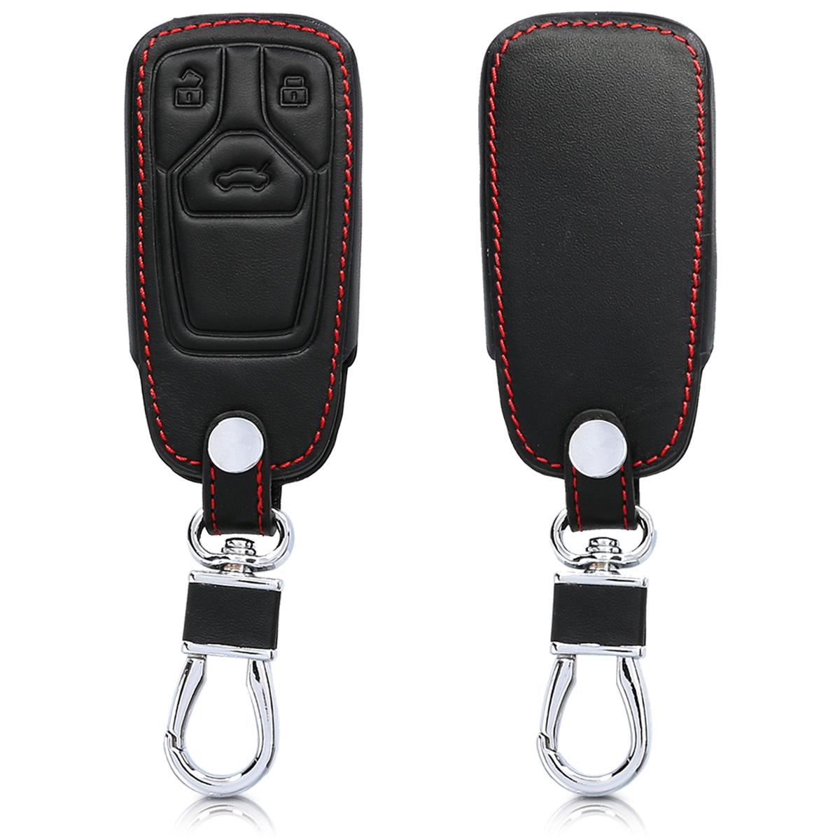 KW Θήκη Κλειδιού Audi - Συνθετικό δέρμα - 3 Κουμπιά - Black (44711.01)