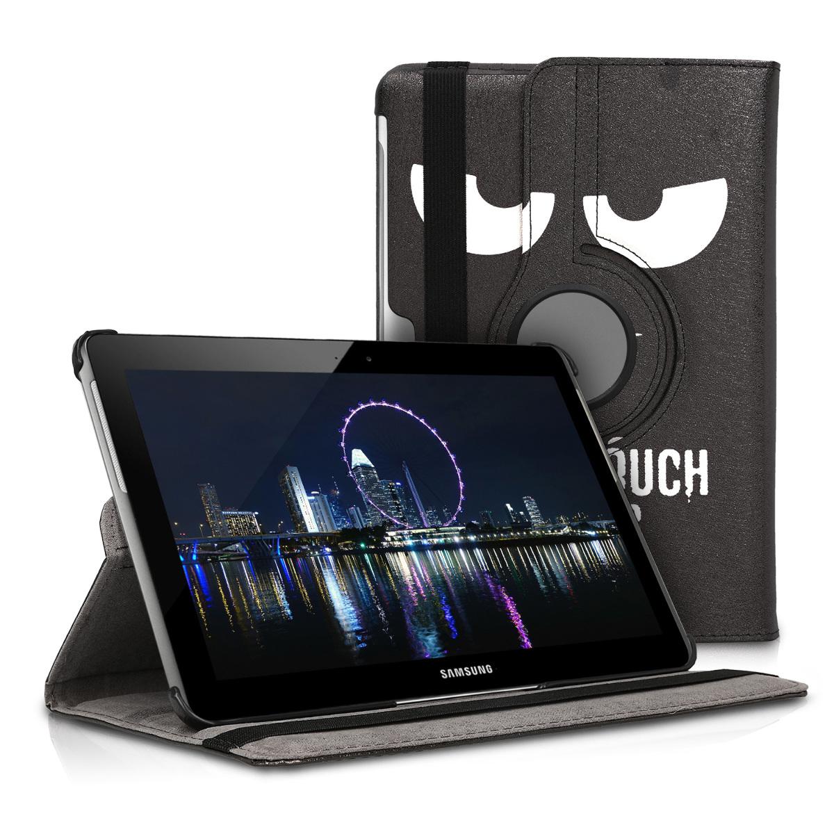KW Θήκη 360° Samsung Galaxy Tab 2 10.1 P5100/P5110 - Συνθετικό Δέρμα - White / Black (44714.01)