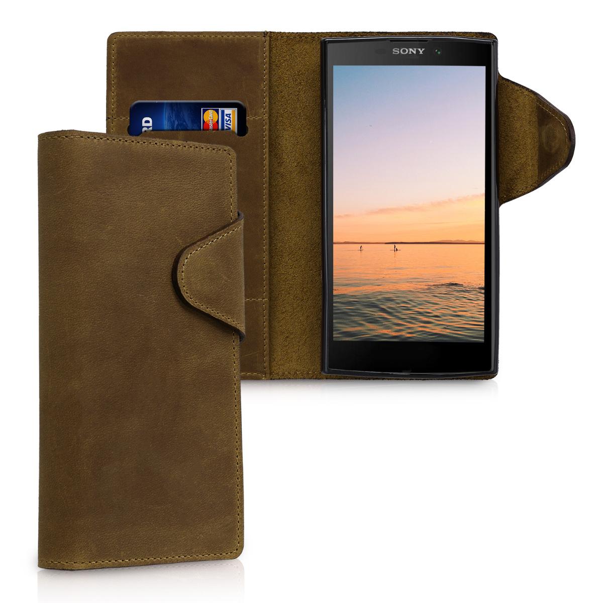 Kalibri Δερμάτινη Suede Θήκη - Πορτοφόλι Sony Xperia L2 - Brown (44759.05)