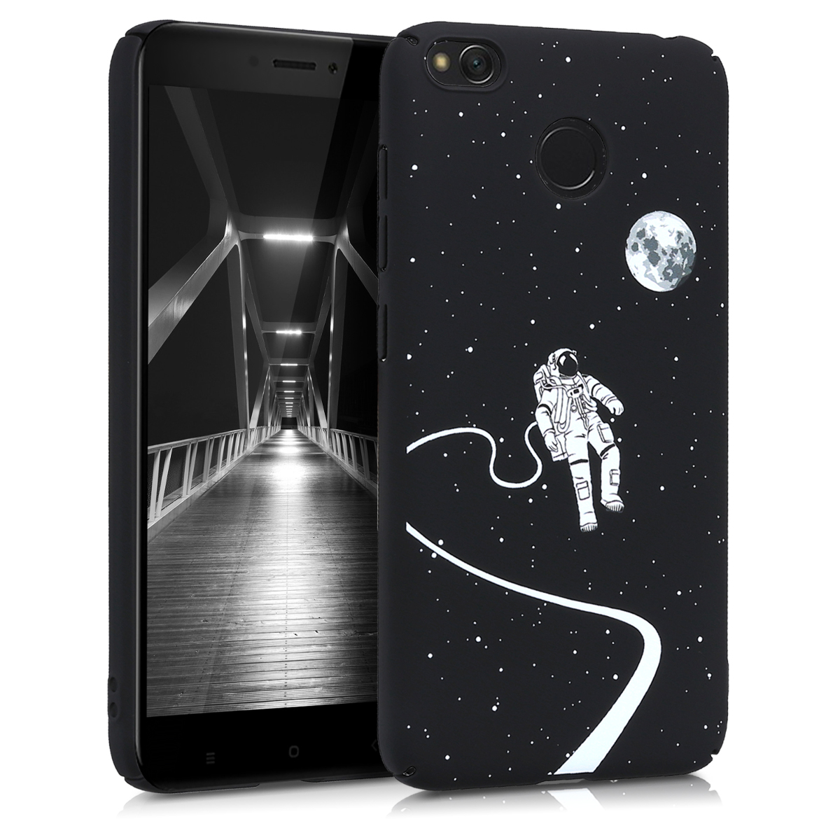 KW Slim Anti-Slip Cover - Σκληρή Θήκη Καουτσούκ Xiaomi Redmi 4/4X - White / Black - (44856.01)