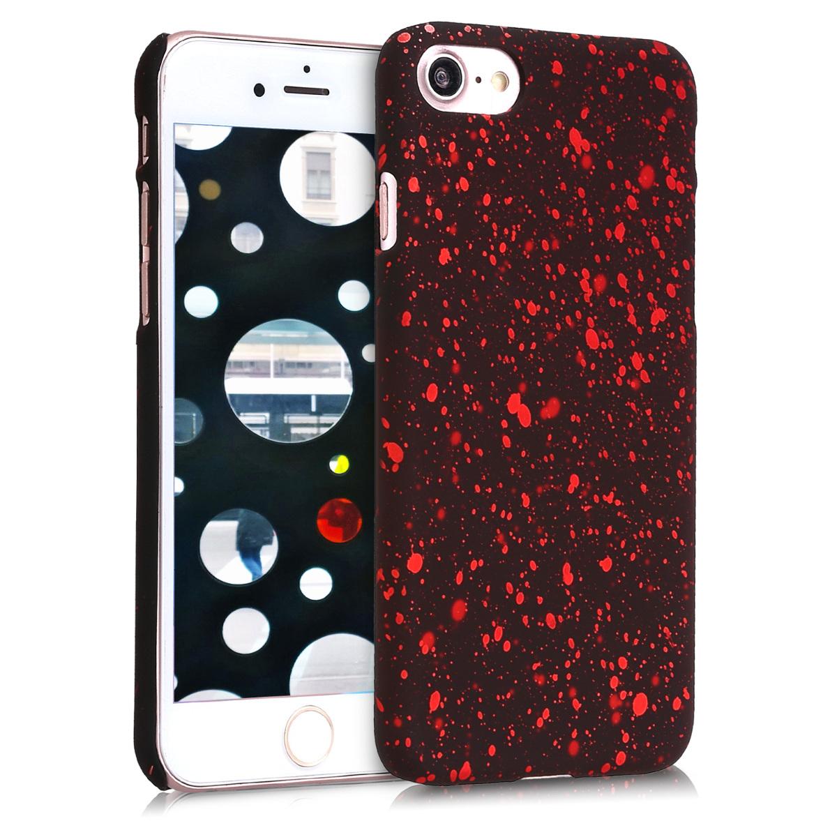 KW Slim Anti-Slip Cover - Σκληρή Θήκη Καουτσούκ iPhone 7 / 8 - Red / Black (44861.01)