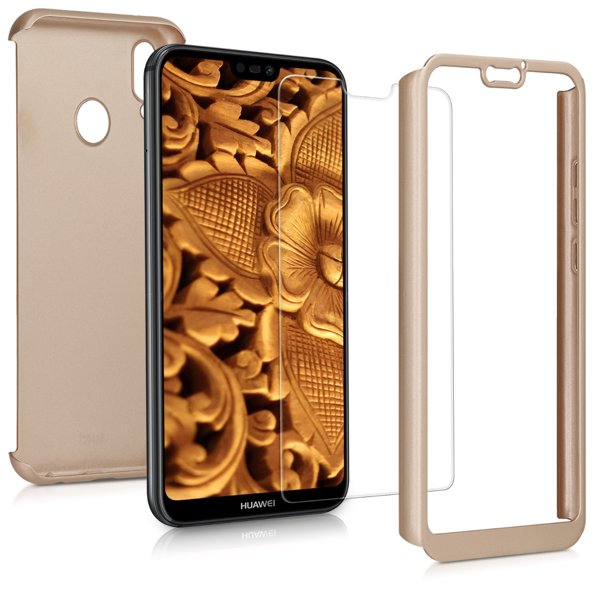 KW Θήκη Full Body Huawei P20 Lite & Tempered Glass - Metallic Gold (44888.66)