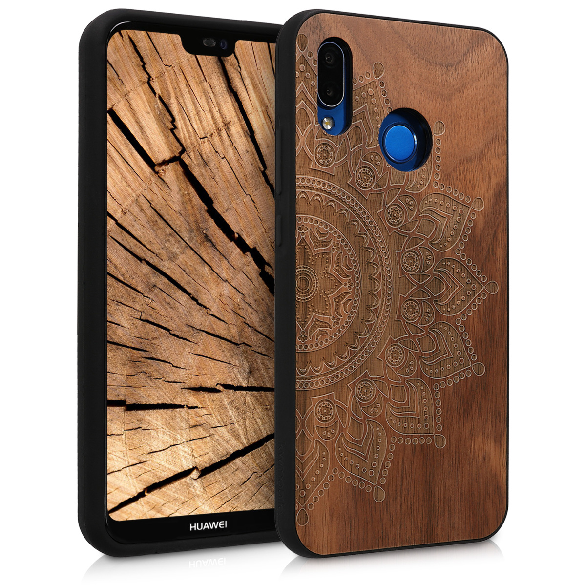KW Ξύλινη Θήκη Huawei P20 Lite - Brown Rising Sun (44890.05)