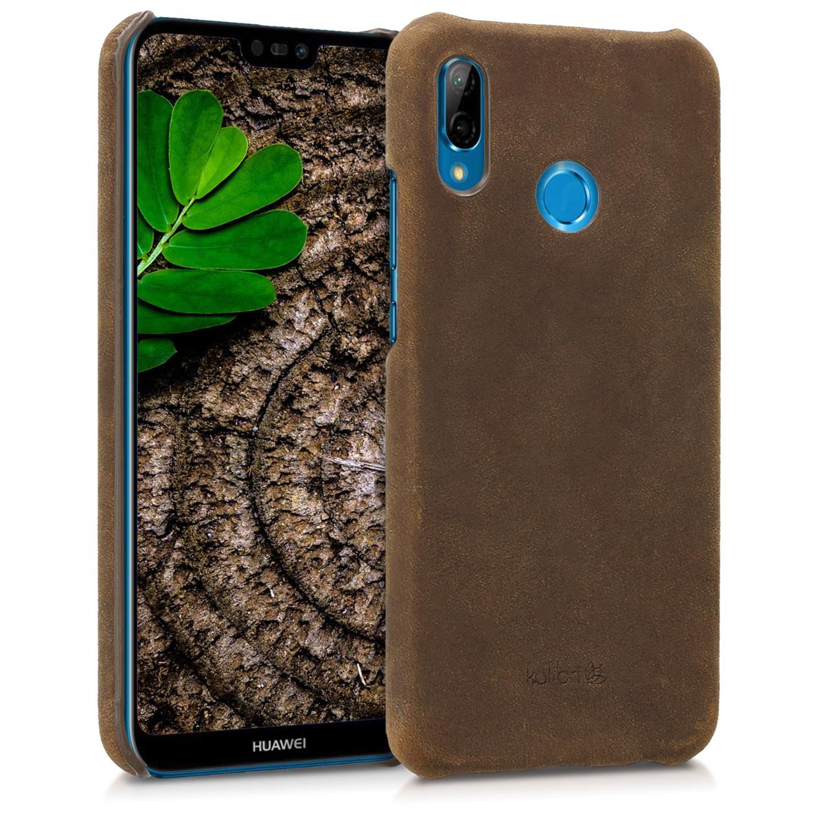 Kalibri Σκληρή Δερμάτινη Θήκη Huawei P20 Lite - Brown (44892.05)