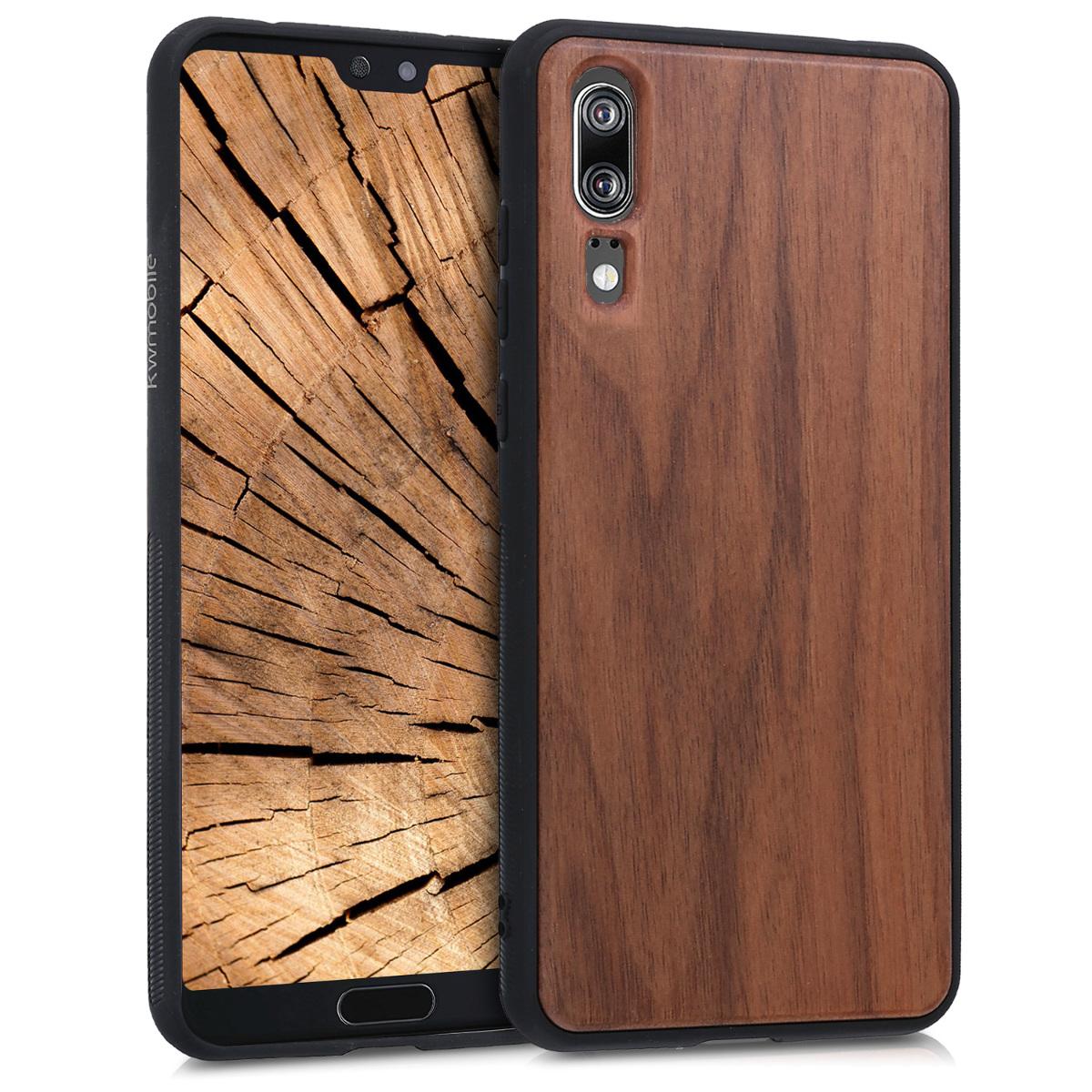 KW Ξύλινη Θήκη Huawei P20 -  Dark Brown (44893.18)