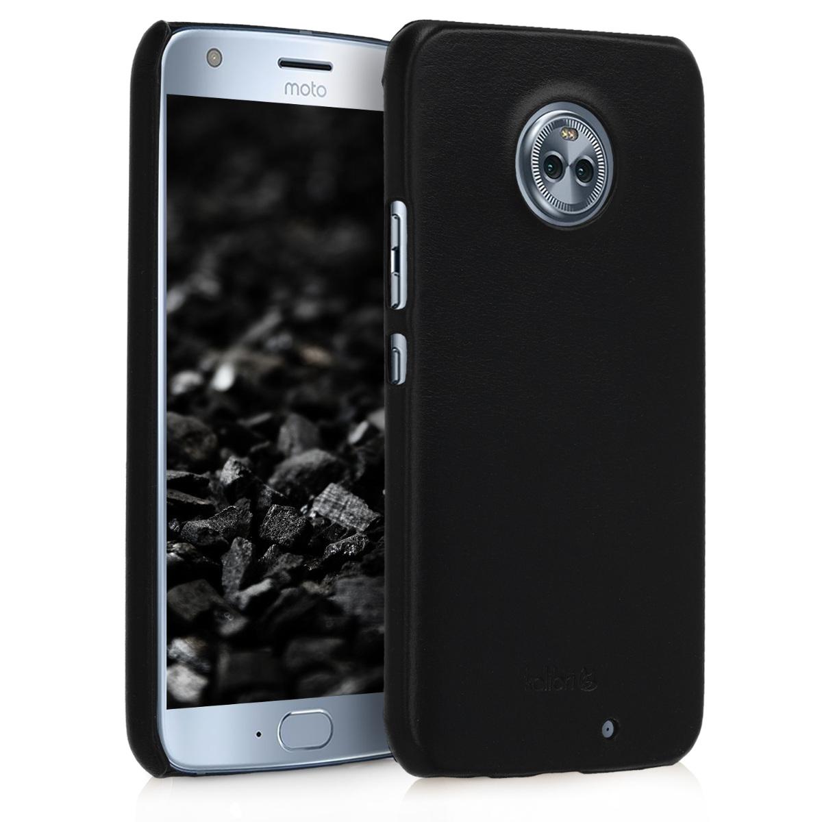 Kalibri Σκληρή Δερμάτινη Θήκη Motorola Moto X4 - Μαύρο (44903.01)