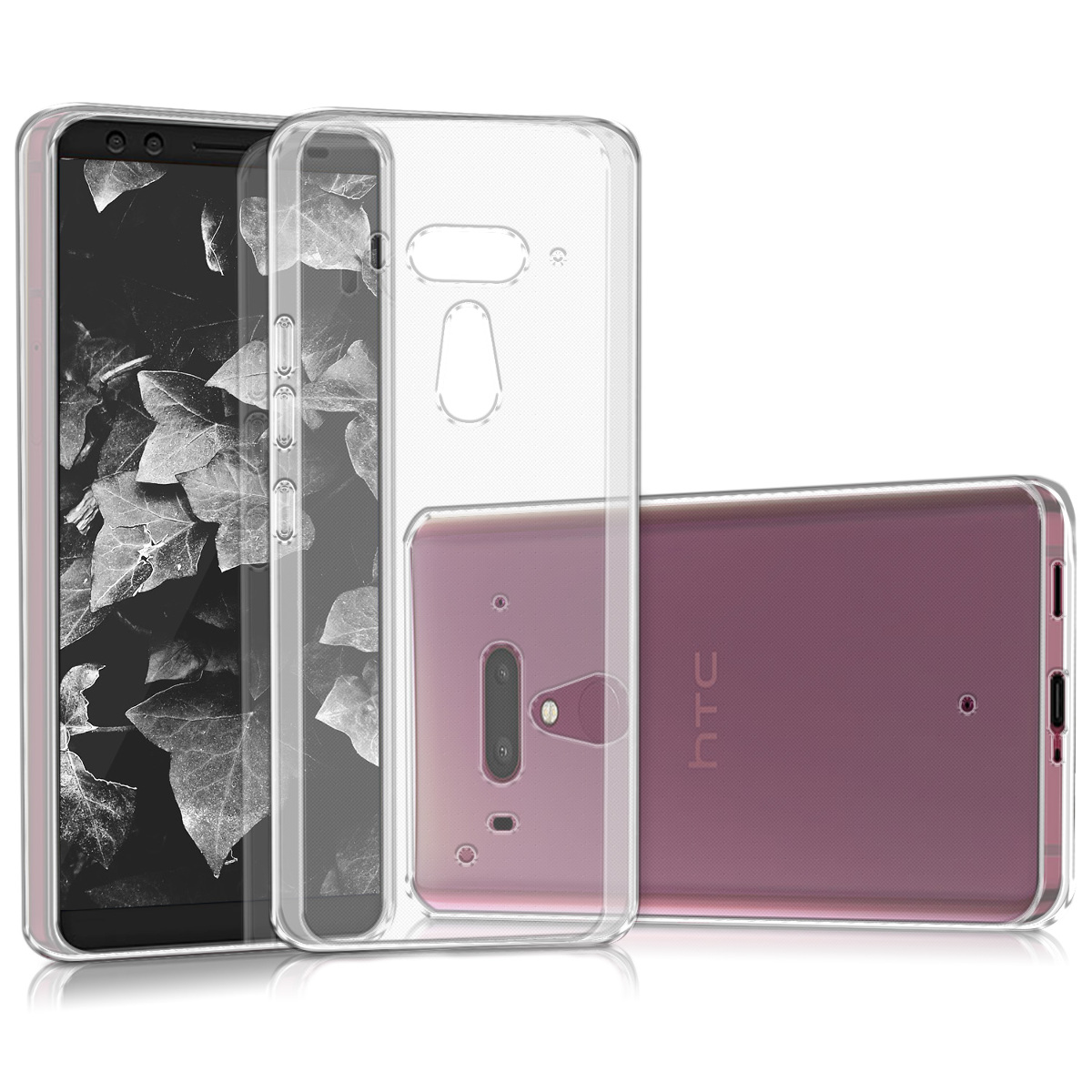 KW Θήκη Σιλικόνης HTC U12+ - Transparent (44930.03)