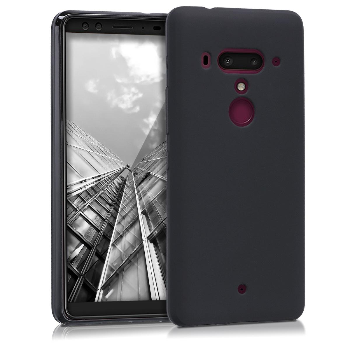 KW Θήκη Σιλικόνης HTC U12 Plus - Μαύρο (44931.47)