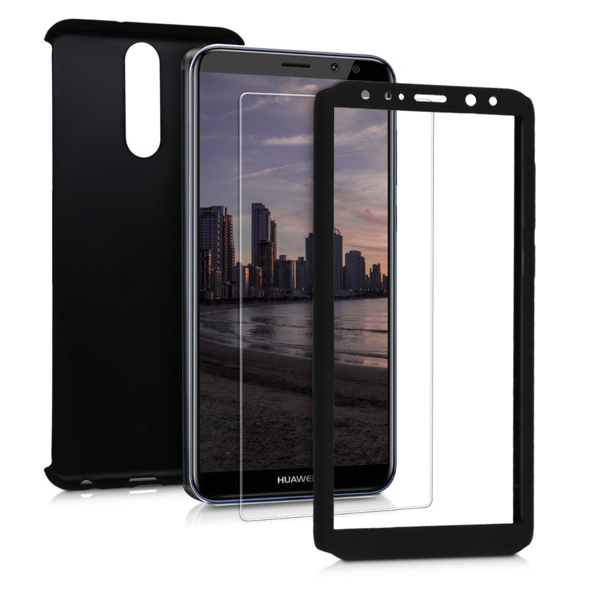 KW Θήκη Full Body για Huawei Mate 10 Lite & Tempered Glass - Metallic Black (44968.68)