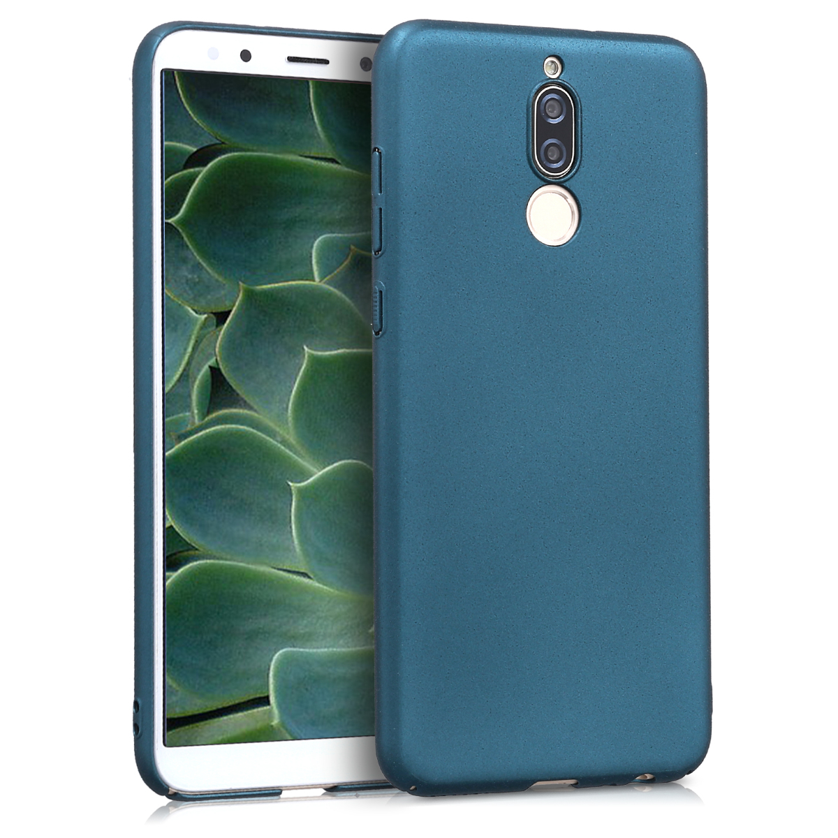 KW Slim Anti-Slip Cover - Σκληρή Θήκη Καουτσούκ Huawei Mate 10 Lite - Τυρκουάζ μεταλλικό (45019.14)