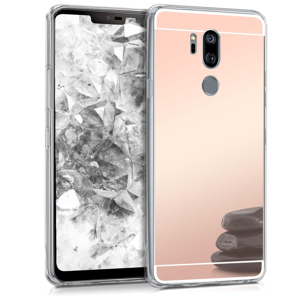 KW Θήκη Σιλικόνης (TPU) με Καθρέφτη LG G7 ThinQ / Fit / One - Rose Gold Reflective (45160.41)