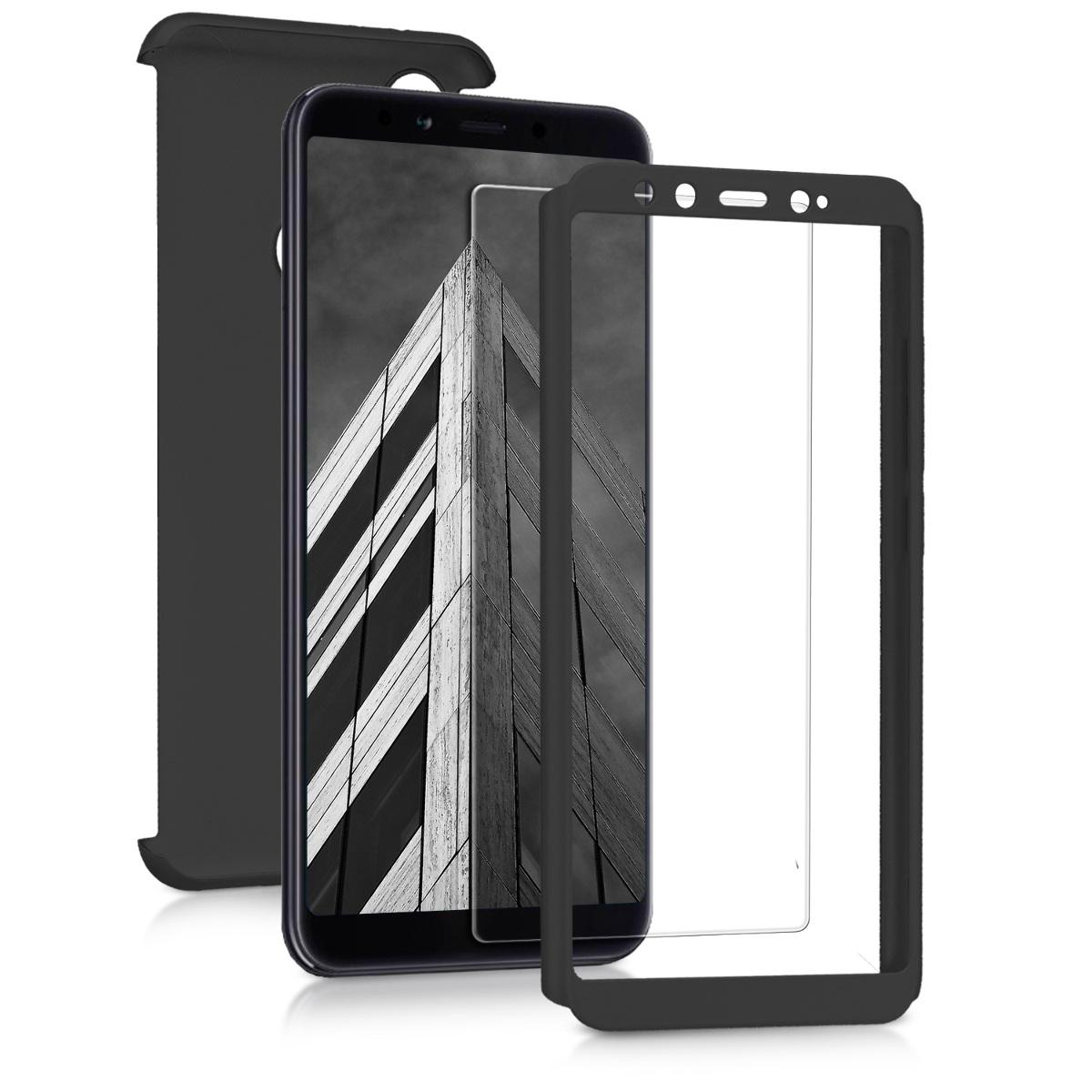 KW Θήκη Full Body για Xiaomi Mi A2 / Mi 6X & Tempered Glass - Metallic Black (45219.68)