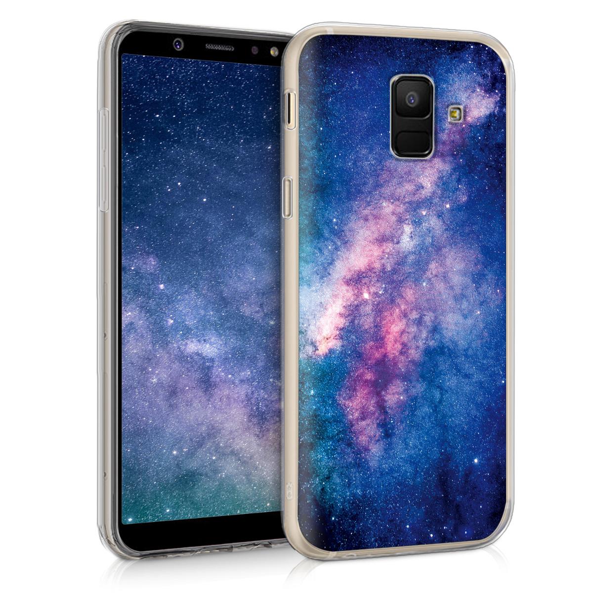 KW Θήκη Σιλικόνης Samsung Galaxy A6 2018 - Pink / Blue Space (45255.09)