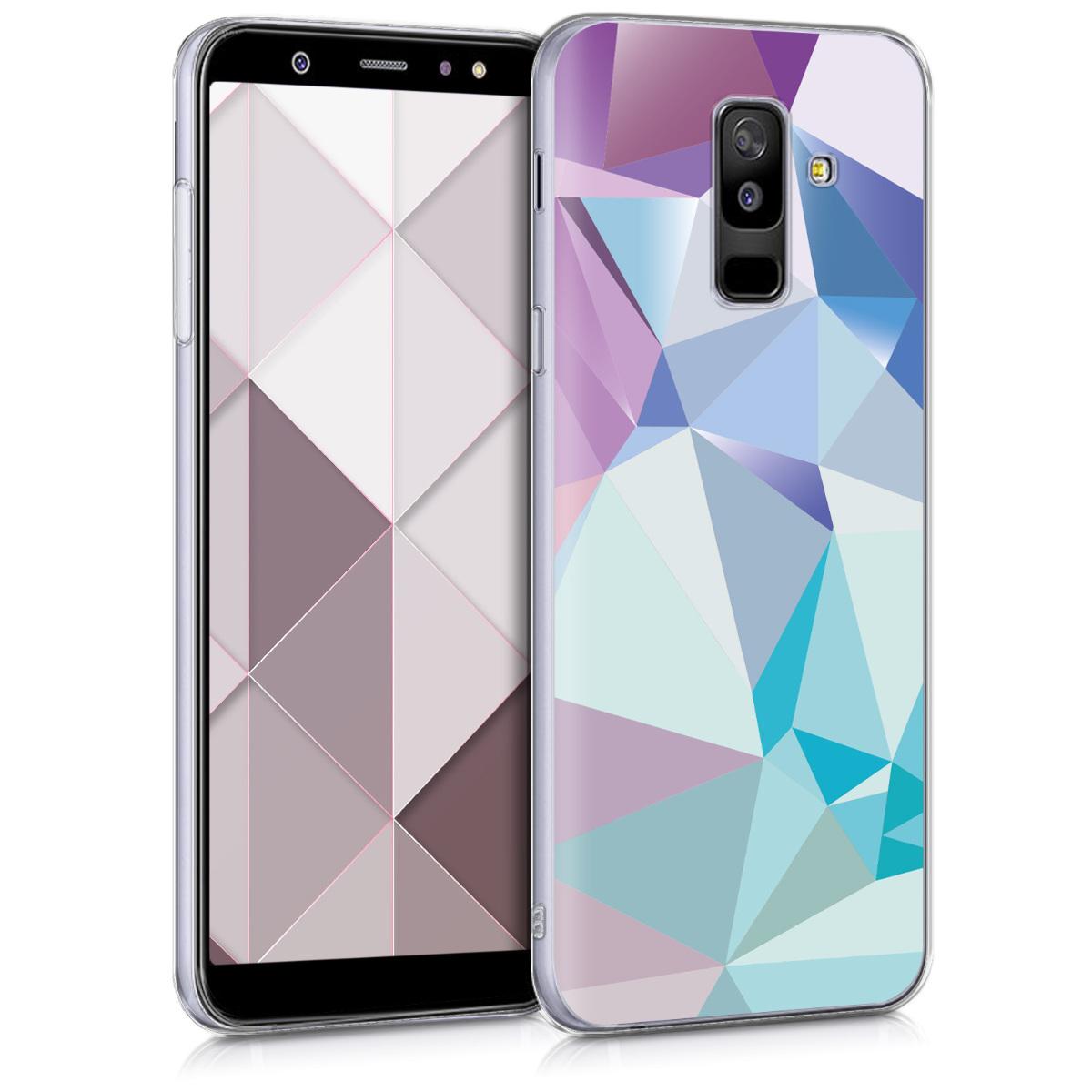 KW Θήκη Σιλικόνης Samsung Galaxy A6+/A6 Plus (2018) - Light Blue / Light Pink / Blue (45260.09)
