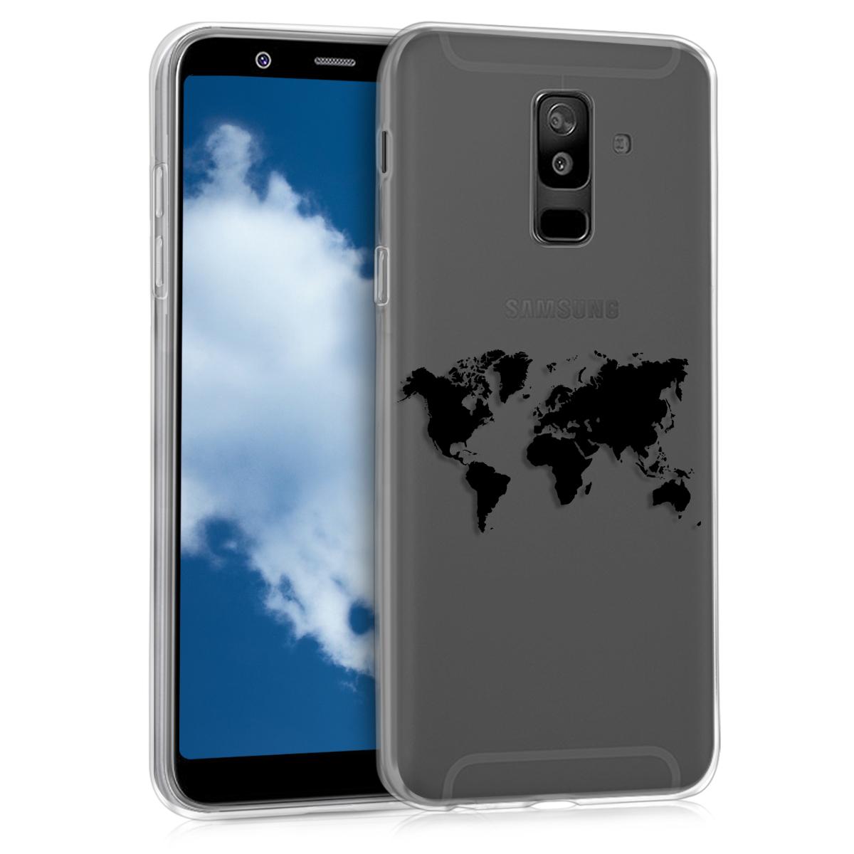 KW Θήκη Σιλικόνης Samsung Galaxy A6 Plus 2018 - Black / Transparent (45261.02)