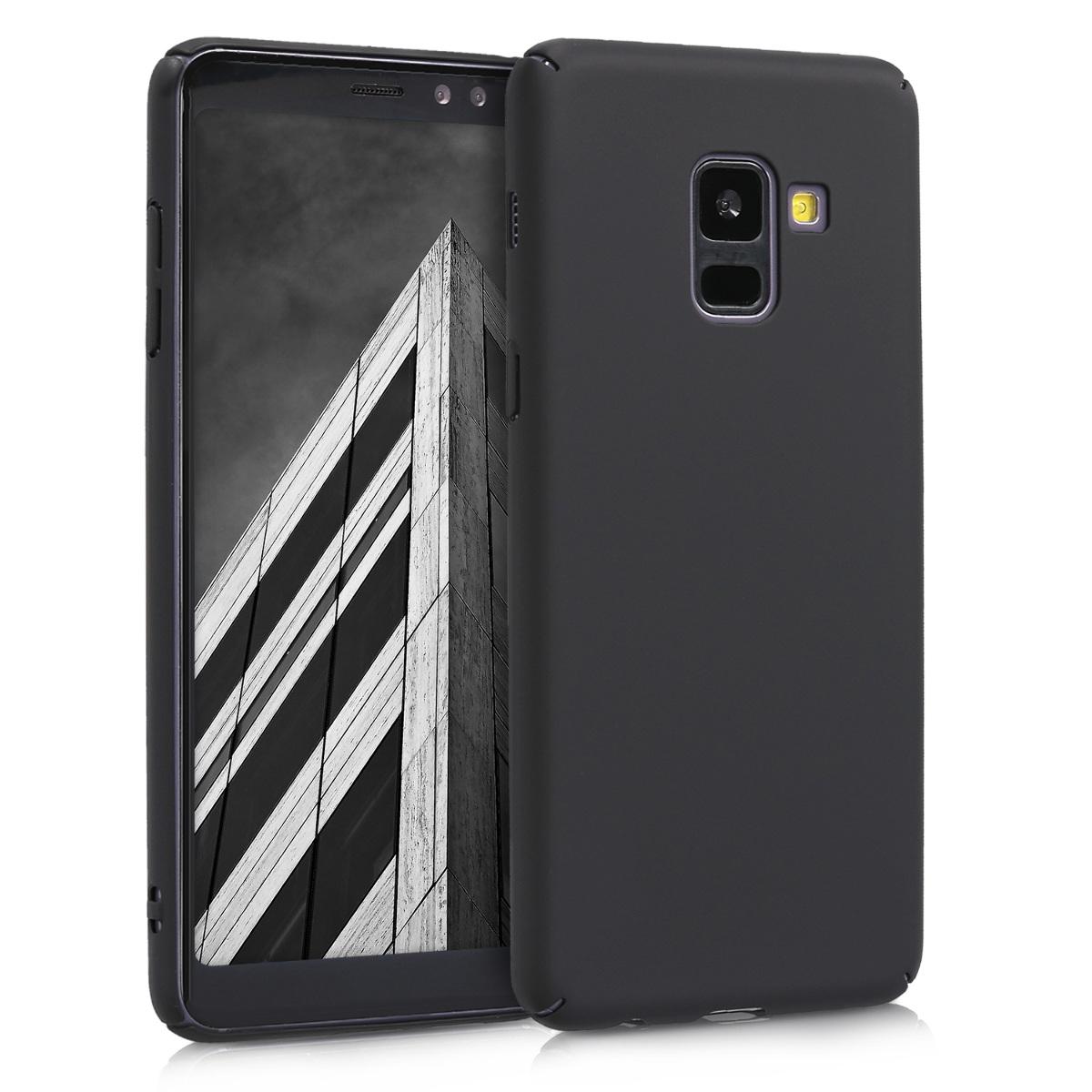 KW Slim Anti-Slip Cover - Σκληρή Θήκη Καουτσούκ Samsung Galaxy A8 (2018) - Μαύρο μεταλλικό (45268.68)