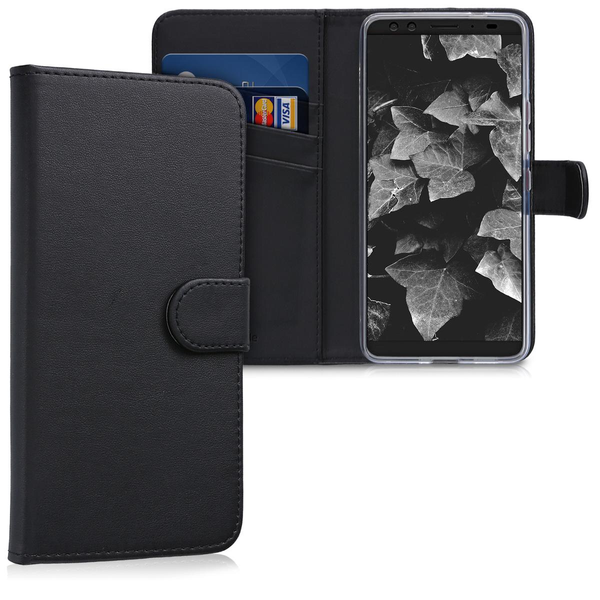 KW Θήκη-Πορτοφόλι HTC U12 Plus - Μαύρο (45269.01)