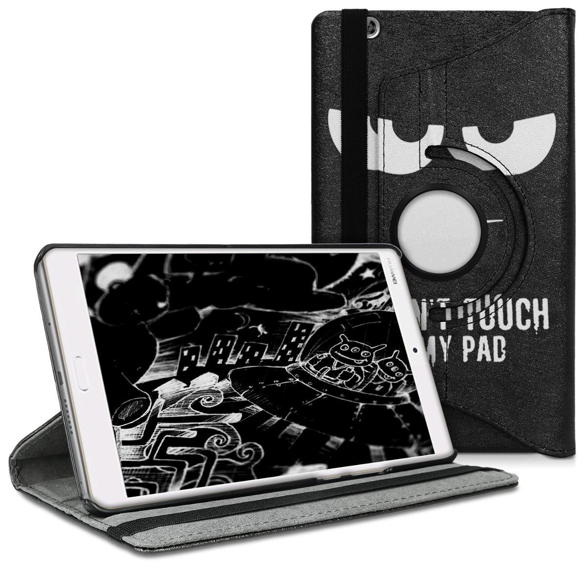 KW Θήκη 360° Huawei MediaPad M3 8.4 - Συνθετικό Δέρμα - White / Black (45343.01)