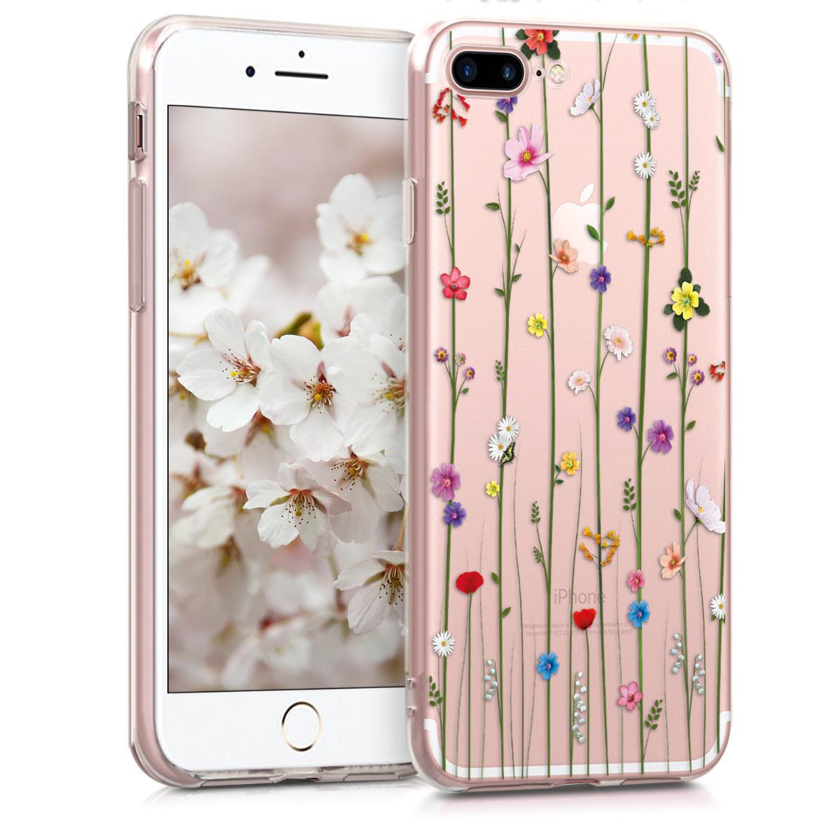 KW Θήκη Σιλικόνης iPhone 7 Plus / 8 Plus - Multicolor / Transparent (45352.11)