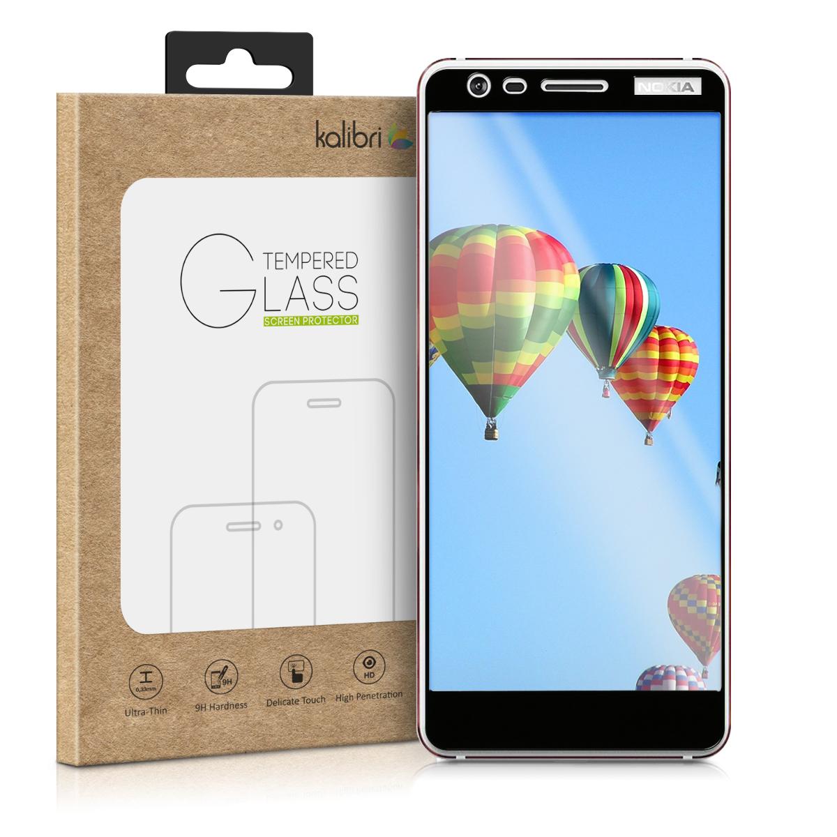 Kalibri Tempered Glass - Fullface Αντιχαρακτικό Γυαλί Οθόνης Nokia 3.1 2018 - Black Frame (45390.01)