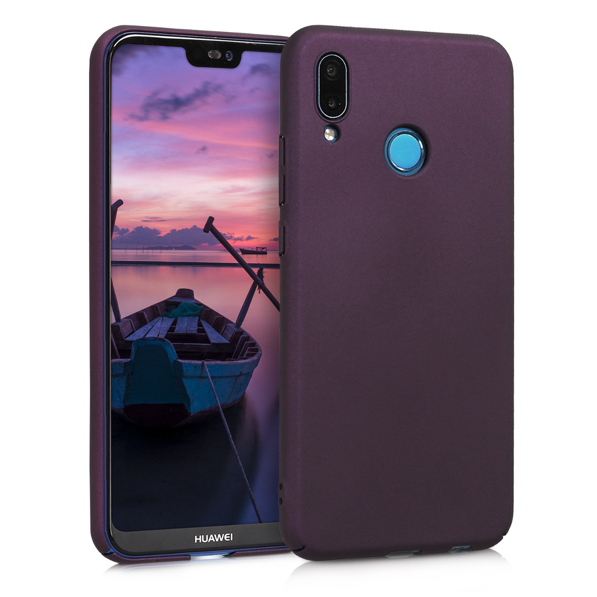 KW Slim Anti-Slip Cover - Σκληρή Θήκη Καουτσούκ Huawei P20 Lite - Metallic Berry (45408.115)