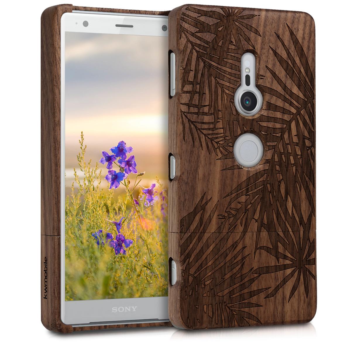 KW Σκληρή Ξύλινη Θήκη Sony Xperia XZ2 - Brown Leaves (45430.01)