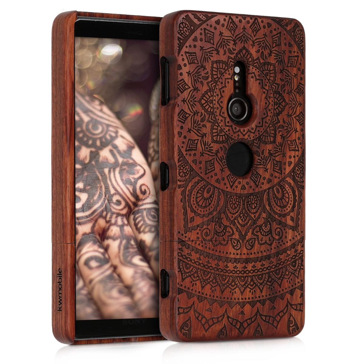 KW Σκληρή Ξύλινη Θήκη Sony Xperia XZ2 - Dark Brown - Indian Sun - (45430.02)
