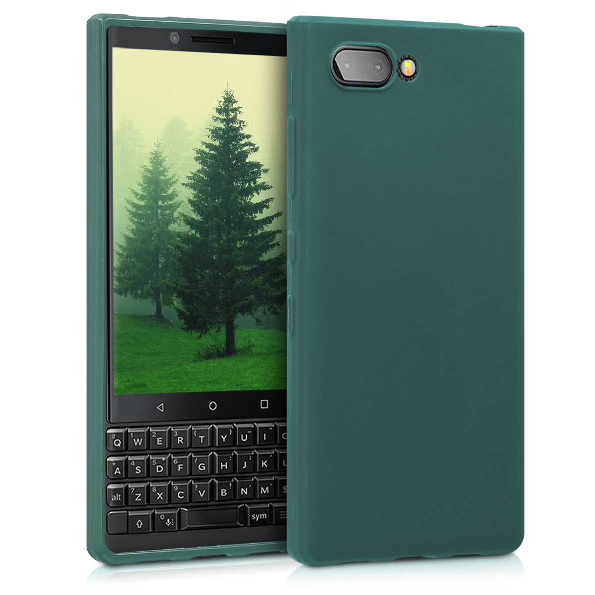 KW Θήκη Σιλικόνης Blackberry KEY2 - Dark Green Matte (45435.118)